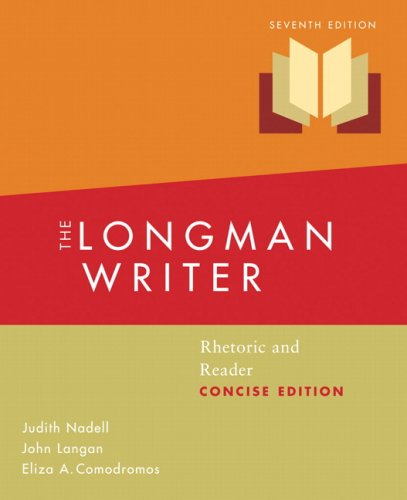 9780205650774: Longman Writer: Rhetoric and Reader, Concise Edition Value Package (includes MyCompLab with E-Book -- Student Access )
