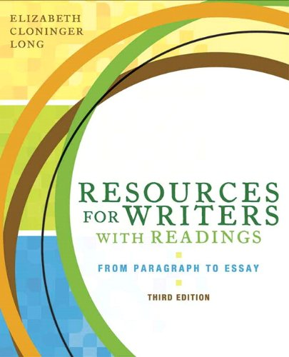 9780205651733: Resources for Writers with Readings (3rd Edition)