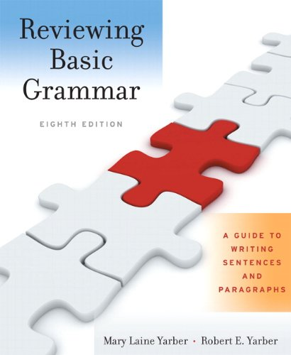 9780205653805: Reviewing Basic Grammar: A Guide to Writing Sentences and Paragraphs (8th Edition)