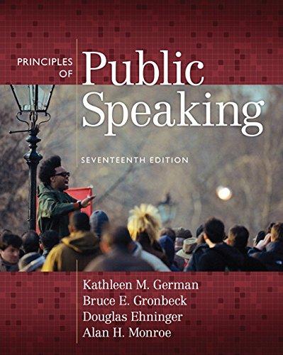 9780205653966: Principles of Public Speaking (17th Edition)