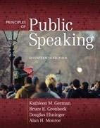 Exam Copy for Principles of Public Speaking,: Miami University of