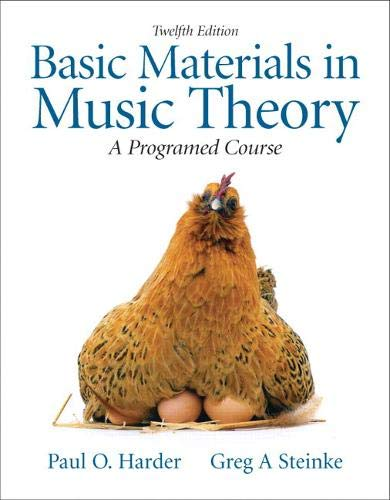 9780205654208: Basic Materials in Music Theory: A Programmed Approach
