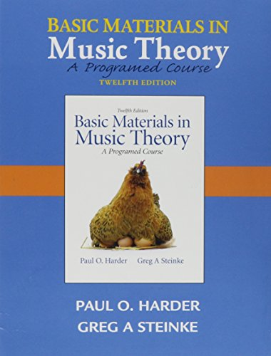 9780205654222: Audio CD for Basic Materials in Music Theory: A Programmed Approach