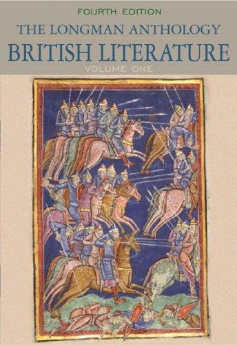 9780205655243: Longman Anthology of British Literature, The, Volume 1 (4th Edition)