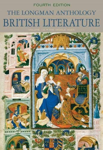 9780205655304: The Longman Anthology of British Literature, Volume 1A: The Middle Ages (4th Edition)