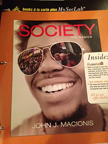 9780205656622: Society: The Basics, Books a la Carte Plus MySocLab Pegasus (10th Edition)