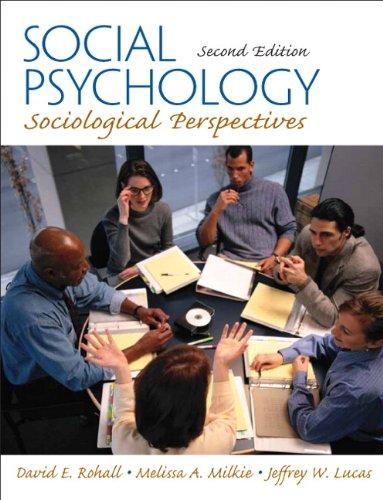 9780205661060: Social Psychology: Sociological Perspectives