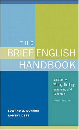 9780205661411: The Brief English Handbook: A Guide to Writing, Thinking, Grammar, and Research, 9th Edition