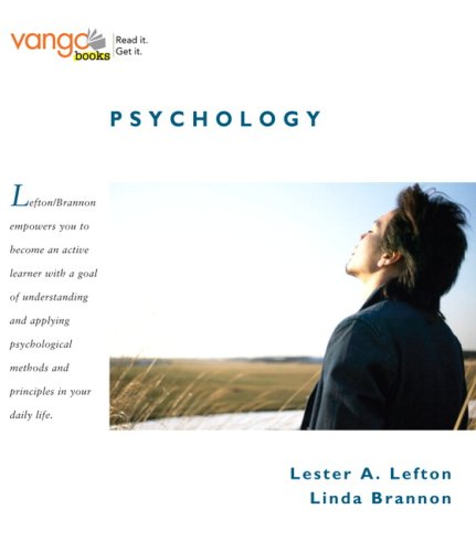 Psychology, VangoBooks Value Package (includes MyPsychKit Student Access ): Lefton, Lester A.; ...