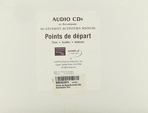 Points de Depart& Audio CDs Accompany Text