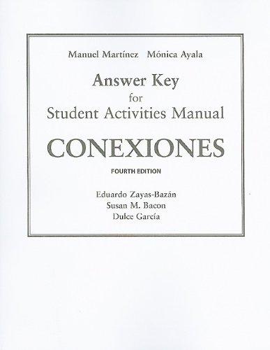 9780205664139: SAM Answer Key for Conexiones: Comunicacion y cultura