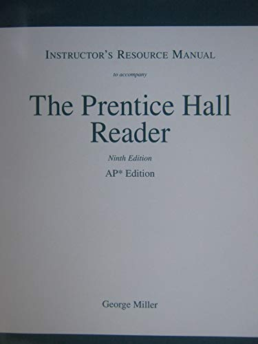 Of The Prentice Hall. Reader to 9e: George Miller