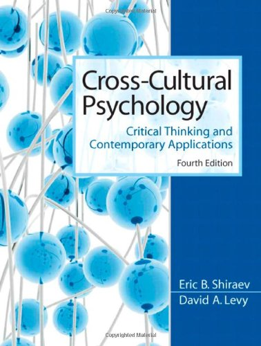 9780205665693: Cross-Cultural Psychology: Critical Thinking and Contemporary Applications (4th Edition)