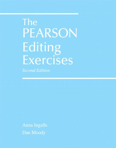 9780205666188: The Pearson Editing Exercises (2nd Edition)
