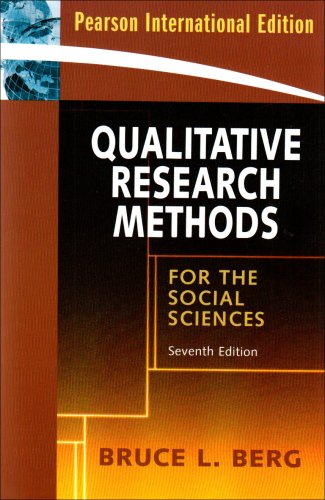 9780205668106: Qualitative Research Methods for the Social Sciences[ QUALITATIVE RESEARCH METHODS FOR THE SOCIAL SCIENCES ] by Berg, Bruce L. (Author) Dec-01-08[ Paperback ]