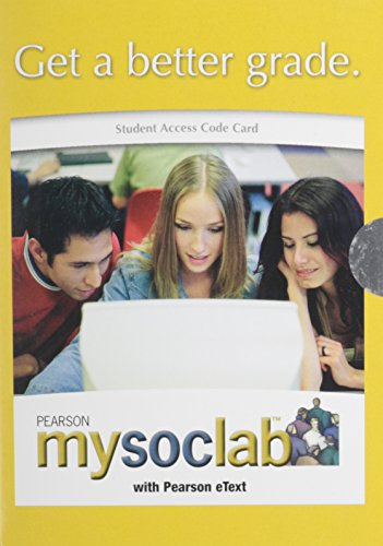9780205669172: Student Access Code Card: Mysoclab with E-Book