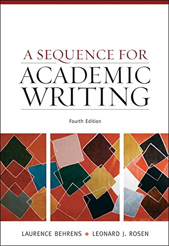 9780205674374: A Sequence for Academic Writing (4th Edition)