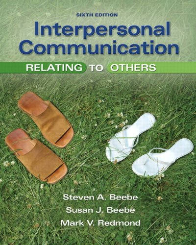 9780205674534: Interpersonal Communication: Relating to Others (6th Edition)