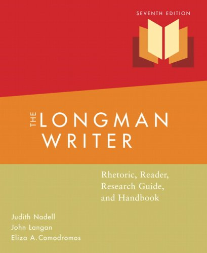 9780205675395: Longman Writer: Rhetoric, Reader, Research Guided Handbook Value Package (includes MyCompLab NEW Student Access )