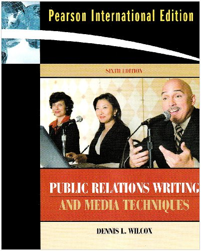 9780205676903: International Edition - Public Relations Writing and Media Techniques (International Edition)