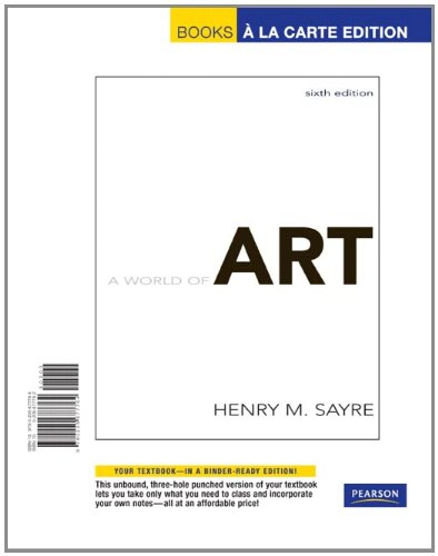 9780205677764: World of Art, A, Books a la Carte Edition (6th Edition)