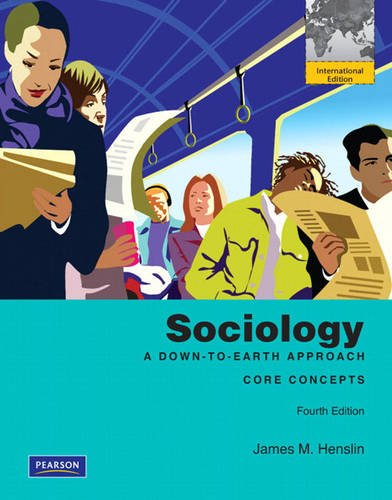 9780205680382: Sociology: A Down-to-Earth Approach, Core Concepts: International Edition