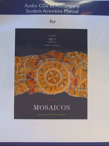 9780205682478: Audio CDs for Student Activities Manual for Mosaicos: Spanish as a World Language