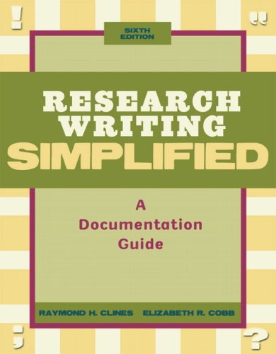 9780205685318: Research Writing Simplified: A Documentation Guide, 6th Edition