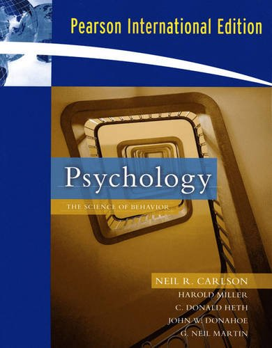 9780205685578: Psychology: The Science of Behavior