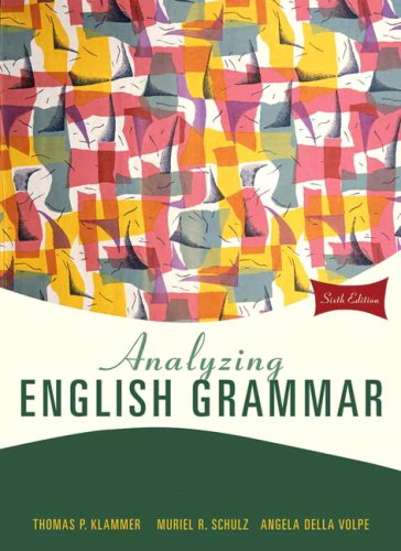9780205685943: Analyzing English Grammar: United States Edition