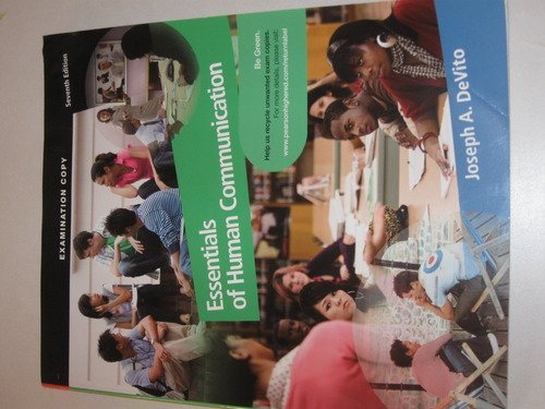 9780205688135: Essentials of Human Communication, by DeVito, 7th Edition (9780205688135)