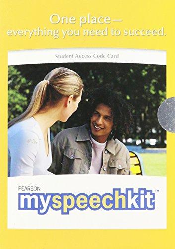 9780205688548: A MySpeechKit - Valuepack Access Card