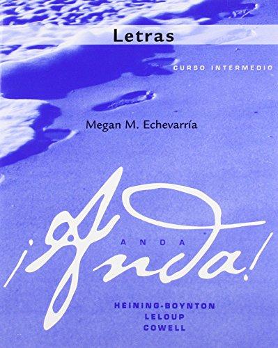 9780205689378: Letras for Anda: Curso intermedio