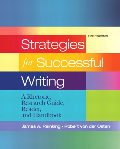 9780205689446: Strategies for Successful Writing: A Rhetoric, Research Guide, Reader and Handbook (9th Edition)