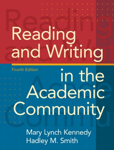 9780205689460: Reading and Writing in the Academic Community (4th Edition)