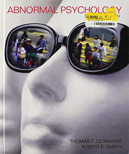 9780205689538: Abnormal Psychology (6th Edition)