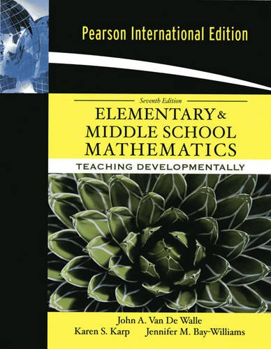 9780205690053: Elementary and Middle School Mathematics: Teaching Developmentally: International Edition
