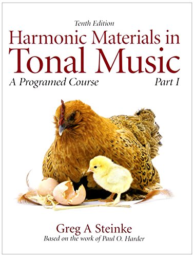 Harmonic Materials in Tonal Music: A Programmed Course, Part 1 with Audio CD (10th Edition): ...