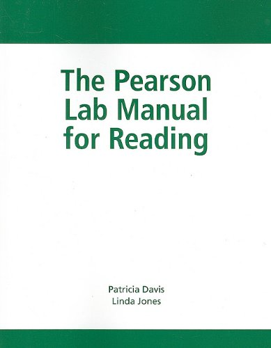 The Pearson Lab Manual for Reading (0205693040) by Linda Jones; Patricia Davis