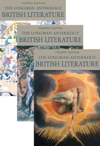 The Longman Anthology of British Literature, Volumes: Manning, Peter J.;