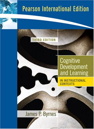 9780205694389: Cognitive Development and Learning in Instructional Contexts (Pearson International Edition)