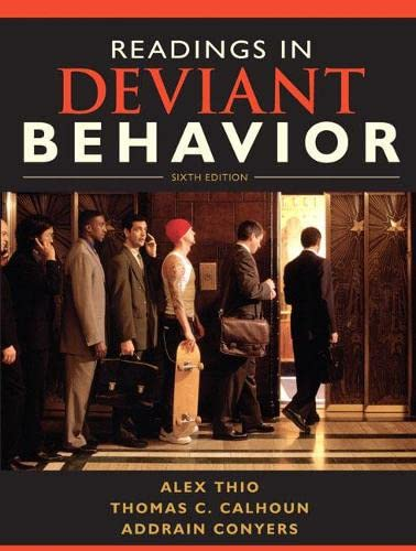 9780205695577: Readings in Deviant Behavior (6th Edition)