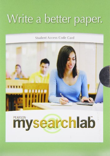 9780205699421: Mysearchlab - Valuepack Access Card