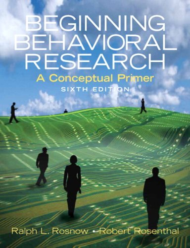 9780205701421: Beginning Behavioral Research: A Conceptual Primer- (Value Pack W/Mysearchlab)