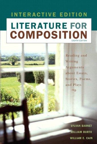 MyLiteratureLab Student Access Code Card for Literature for Composition, Interactive Edition (standalone) (8th Edition) (0205706746) by Sylvan Barnet; William E. Burto; William E. Cain