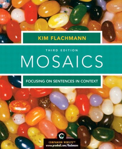 9780205708710: Mosaics: Focusing on Sentences in Context, with MyWritingLab Student Access Code Card, 3rd Edition