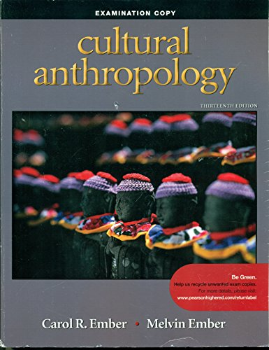 9780205711222: Cultural Anthopology Examination Copy Thirteenth Edition Ember