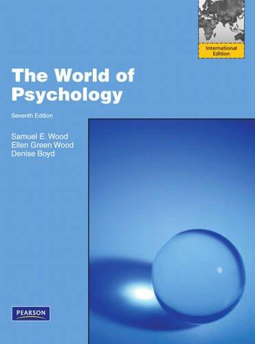 9780205715251: The World of Psychology: International Edition