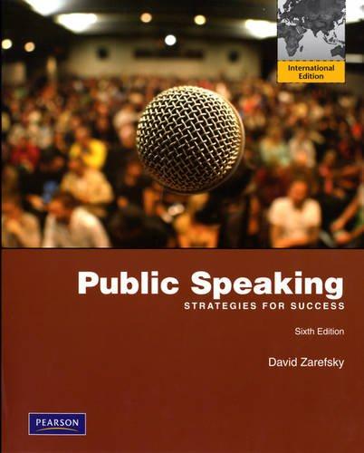 9780205720125: Public Speaking: Strategies for Success