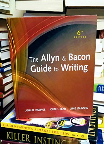 9780205721481: The Allyn & Bacon Guide to Writing (6th Edition)